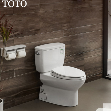 TOTO Toilets CW764RBVD TOTO Two Piece Toilet Cefiontect Skirted Design Side Siphon Jet Flush With Toilet Seat Soft Close 1.26 GPF