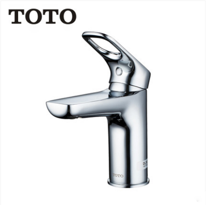 TOTO Bathroom Faucet DL362 TOTO Chrome Bathroom Faucets Brass Single Hole Bathroom Faucet With Drain