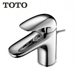 TOTO Bathroom Faucet TLS03301B TOTO Polished Chrome Brass Bathroom Faucets Single Hole Bathroom Faucet With Drainer