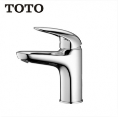 TOTO Bathroom Faucet TLS03302B TOTO Polished Chrome Brass Bathroom Faucets Single Handle Bathroom Faucet Without Drainer