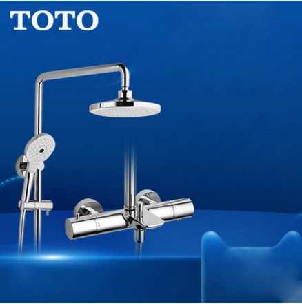 "TOTO Shower Faucet TBW01401BVD TOTO 1/2"" Thermostatic Mixing Valve Trim Rain Shower Heads With Handheld Shower Head 3 Spray Modes"
