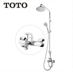 "TOTO Shower Faucet DM907CS/CR TOTO 1/2"" Pressure Balancing Valve Trim Rain Shower Heads With Handheld Shower Head 3 Spray Modes And Tub Spout"