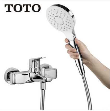 "TOTO Shower Faucet TBG03302B 1/2"" Pressure Balancing Valve Trim Hand Held Shower Heads With Shower Head Holder And Tub Spout"