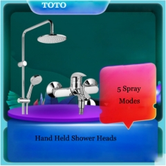 "TOTO Shower Faucet TBW01S04BVD 1/2"" Pressure Balancing Valve Trim Concealed Tub Spout Rainfall Shower Head With Handheld Shower Head 5 Spray Modes"