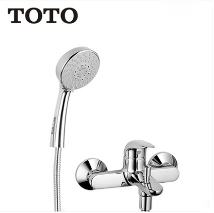 "TOTO Shower Faucet TBS03302B TOTO Shower Head With Hose 1/2"" Pressure Balancing Valve Trim Tub Spout With Shower Head Holder 5 Spray Modes"