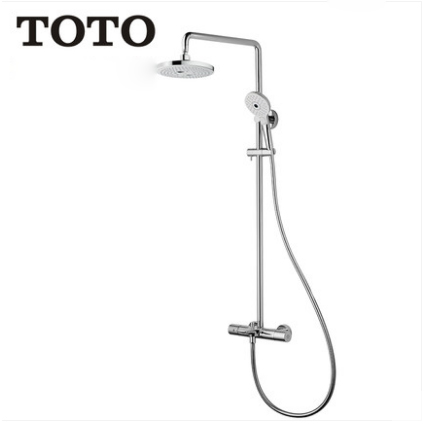 "TOTO Shower Faucet TBW01407B Dual Shower Head Tub Spout 1/2"" Thermostatic Mixing Trim 2 Spray Rain Shower Heads With Handheld Shower Head 3 Spray"