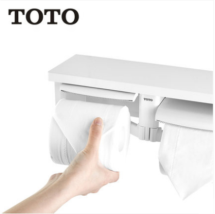 TOTO Bathroom Accessories GYH650 Wall Mount Bathroom Shelf ABS Dual Toilet Paper Holder