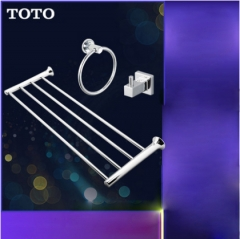 TOTO Bathroom Accessories YTS408BC Stainless Steel Wall Mount Bath Tower Holder Towel Rack Holder 3 Sets