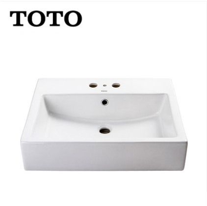 TOTO Bathroom Sink LW711RCB TOTO Single Sink Vanity Cefiontect Ceramic Rectangular Top Mount Bathroom Sinks Without Drainer