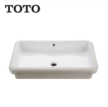 TOTO Bathroom Sink LW1516B Stone Vessel Sinks TOTO Cefiontect Technology Undermount Bathroom Sink