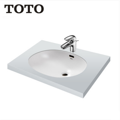 TOTO Bathroom Sink L765EB+TLS03301B Bathroom Vessel Sinks TOTO Cefiontect Technology Undermount Bathroom Sink With Bathroom Sink Faucets
