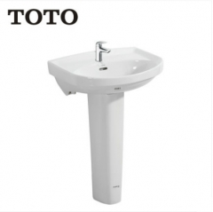 TOTO Bathroom Sink LWN251CB Bathroom Sink Pedestal TOTO Cefiontect Technology With Bathroom Sink Faucets