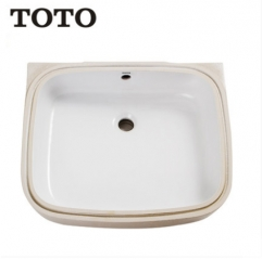 TOTO Bathroom Sink LW765B Stone Vessel Sinks TOTO Cefiontect Technology Undermount Bathroom Sinks Without Faucet Bathroom Sink Drain
