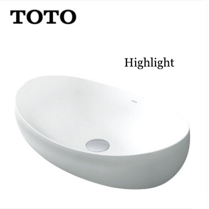 TOTO Bathroom Sink PJS01W Single Sink Vanity TOTO Cefiontect Technology Top Mount Bathroom Sinks
