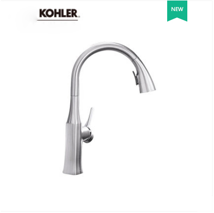 Kohler Kitchen Faucets 20147T Kohler Rubicon Pull Down Kitchen Faucet with 2 spray