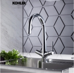 Kohler Kitchen Faucet 76372T Kohler Carafe 2.0 Two-In-One Purified Water And City Water Kitchen Sink Faucet