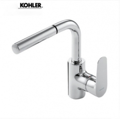 Kohler Bathroom Faucets 76602T Kohler Aleo Polished Nickel Single Hole Bathroom Faucet Pull Down Sprayer With Bathroom Sink Drain