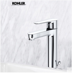Kohler Bathroom Faucets 5241T Kohler July Bathroom Faucets In Brushed Nickel Modern Bathroom Faucets With Kohler Drainer