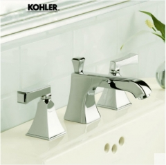 "Kohler Bathroom Faucets 454T Kohler 8""Memoirs Widespread Bathroom Faucet Polished Chrome Antique Brass Bathroom Faucet With Kohler Original Drainer"