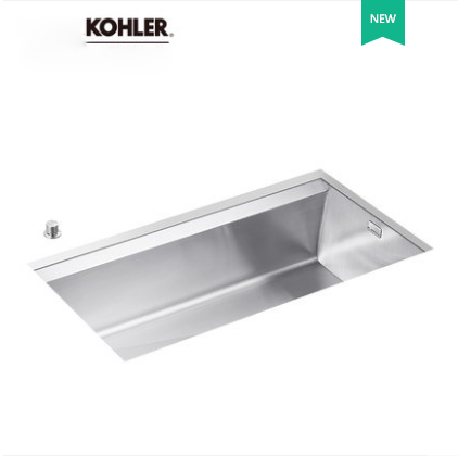 Kohler Kitchen Sinks 3673T Kohler Single Basin Kitchen Sink White Kitchen Sinks With Platform Controlled Drain System