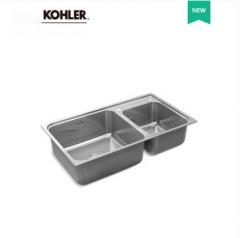 Kohler Kitchen Sinks 23053T Kohler Cuff Double Basin Countertop Undermount Kitchen Sink  Kohler Modern Kitchen Sink