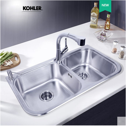 Kohler Kitchen Sinks 45380T Kohler July Double Basin Undermount Kitchen Sink Kohler Stainless Steel Sink For Kitchen