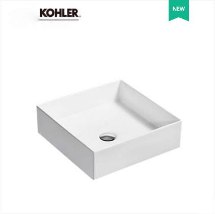 Kohler Bathroom Sinks 90011T Kohler Single Sink Vanity Ceramic Rectangular Top Mount Bathroom Sinks Without Drainer