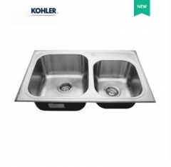 Kohler Kitchen Sinks 3676T Kohler Marcato Double Basin Modern Kitchen Sink Kohler Stainless Steel Kitchen Sinks