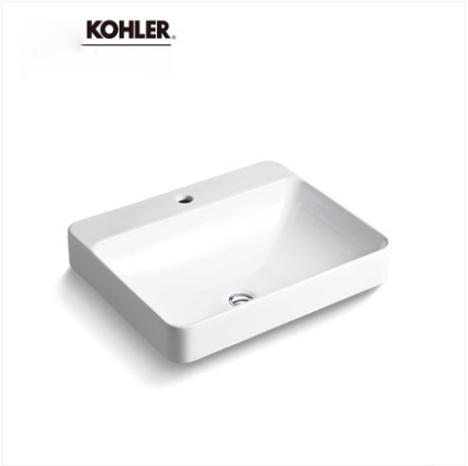 Kohler Bathroom Sinks 2660T Kohler Forefront Bathroom Vessel Sinks Ceramic Rectangular Top Mount Bathroom Sinks Without Bathroom Sink Stopper