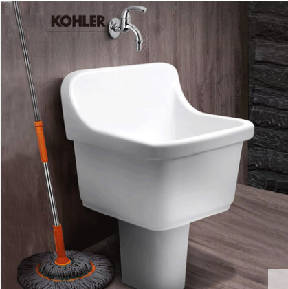 Kohler Bathroom Sinks 6180T Kohler Top Mount Bathroom Sinks Glaze Ceramic Rectangular Mop Basin