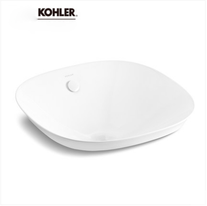 Kohler Bathroom Sinks 26407T Kohler Veil Stone Vessel Sinks Ceramic Round Countertop Bathroom Sink Without Bathroom Sink Stopper