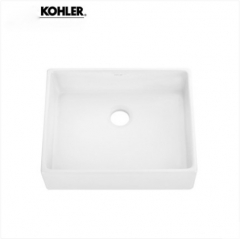 Kohler Bathroom Sinks 19897T Kohler Delta Single Sink Vanity Ceramic Rectangular Top Mount Bathroom Sinks