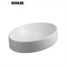 Kohler Bathroom Sinks 14800T Kohler Chalice Stone Vessel Sinks Ceramic Top Mount Single Sink Vanity