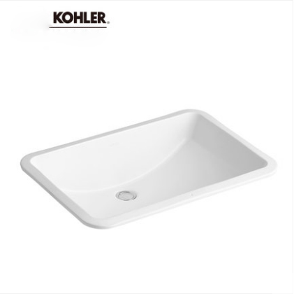 Kohler Bathroom Sinks 2215T Kohler Ladena Vessel Sink Vanity Ceramic Rectangular Undermount Bathroom Sinks Without Bathroom Sink Drain Volume 9L