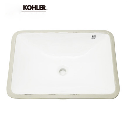 Kohler Bathroom Sinks 20414T Kohler Single Sink Vanity Caxton Series Ceramic Rectangular Undermount Bathroom Sinks Without Bathroom Sink Stopper