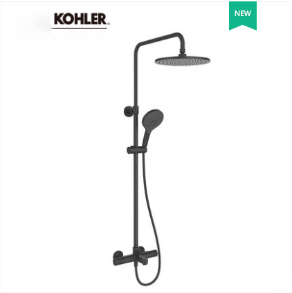 Kohler Shower Faucets 23126T Kohler July Black Dual Shower Head Kohler Shower Head Tub Spout And Hand Held Shower Heads 3 Spray Modes