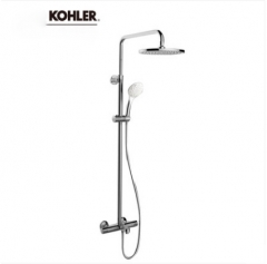 "Kohler Shower Faucets 23125T-9-CP Aleo 1/2"" Thermostatic Mixing Valve Kohler Shower Head Rain Shower Tub Spout And Shower Head With Hose 3 Spray"