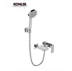 "Kohler Shower Faucets 23493T Kohler Shower Head Parallel 1/2"" Thermostatic Mixing Valve Tub Spout High Pressure Shower Heads 3 Spray Modes"