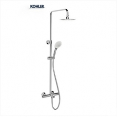 "Kohler Shower Faucets 99741T Kohler Shower Head 1/2"" Thermostatic Mixing Three-Way Rainfall Shower Head Tub Spout Shower Head With Hose 3 Spray Modes"