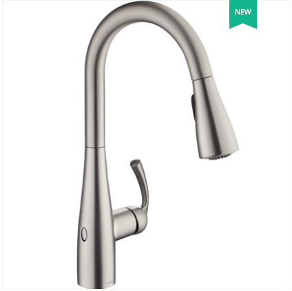 Moen Kitchen Faucets 87014EW Touchless Kitchen Faucet Moen Pull Out Kitchen Taps With 2 Spray