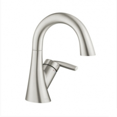 Moen Bathroom Faucets GN59121 Polished Nickel Spot Resistant Single Hole Bathroom Faucet