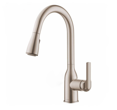Moen Kitchen Faucets GN68000 Polished Chrome Spot Resistant Pull Down Kitchen Faucet With 2 Sprayer