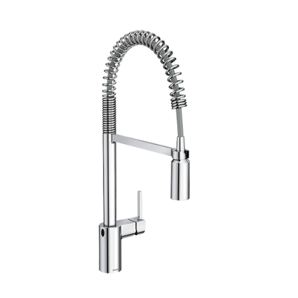 Moen Kitchen Faucets 5923 Bridge Faucet Spot Resist Pull Down Kitchen Faucet With 2 Spray