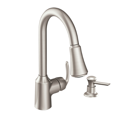 Moen Kitchen Faucets CA87094SRS Spot Resistant Pull Out Kitchen Taps With 2 Spray