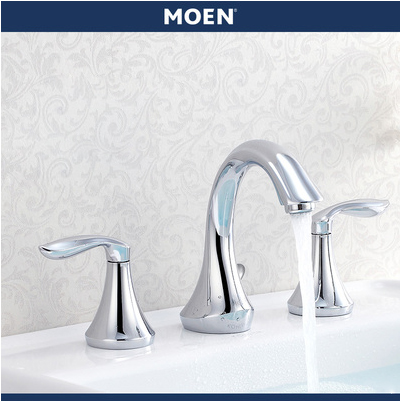 "Moen Bathroom Faucets T6420 Eva 8"" High Arc 2 Handle Widespread Bathroom Faucet"