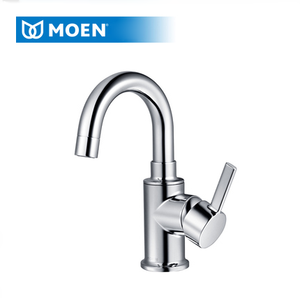 Moen Bathroom Faucets GN19121 Polished Chrome Single Hole Bathroom Sink Faucets