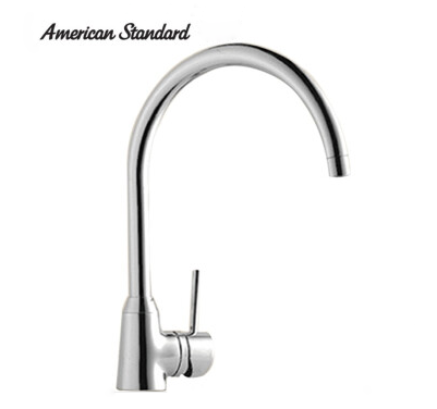 American Standard Faucets Kitchen FFAS5608 Polished Chrome White Kitchen Faucet