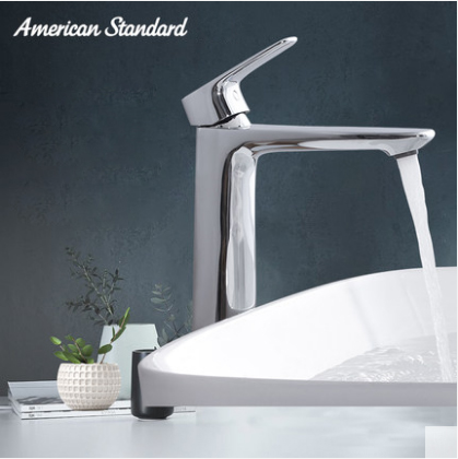 American Standard Bathroom Faucets FFAS1702 Top Mount Tall Single Hole Bathroom Faucet With Original Drainer