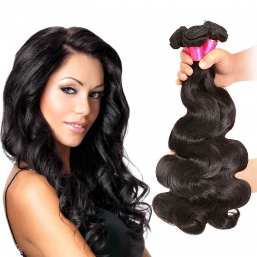 【Affordable 7A】8''-28'' 3 Bundles Malaysian Virgin Remy Human Hair Weft Body Wave Natural Color