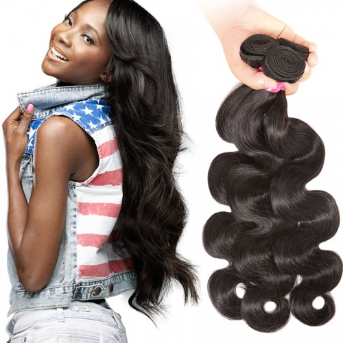 【Affordable 7A】8''-28'' 3 Bundles Indian Virgin Remy Human Hair Weft Body Wave Natural Color